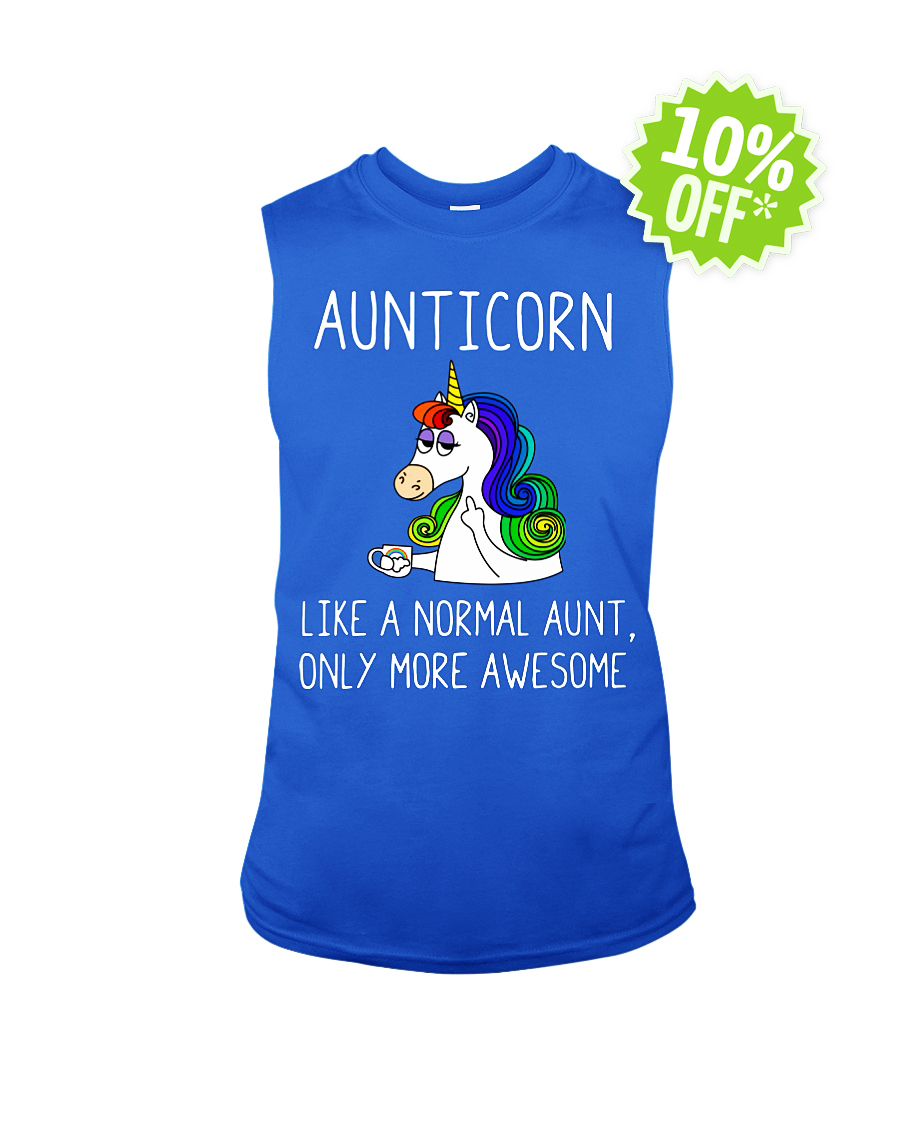 Aunticorn like a normal aunt only more awesome sleevealess tee