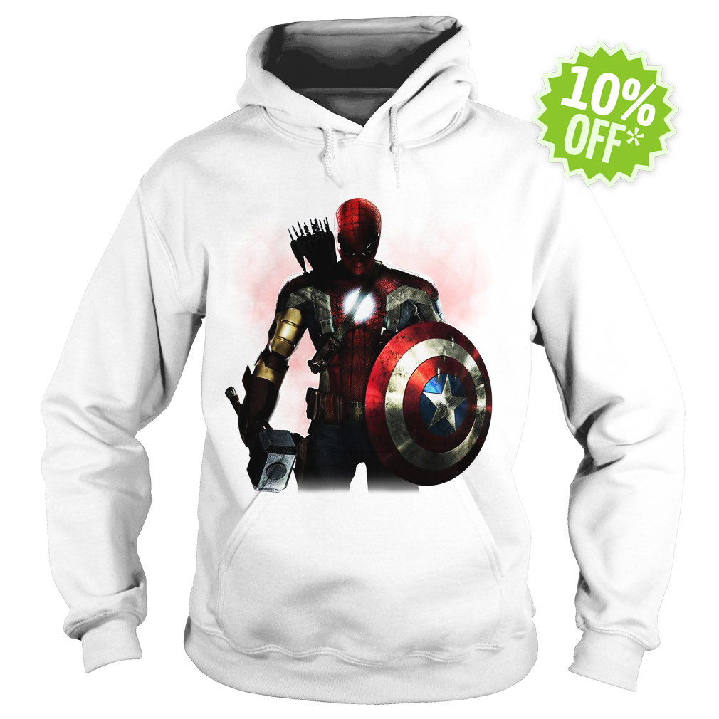 Marvel All avengers heroes in one hoodie