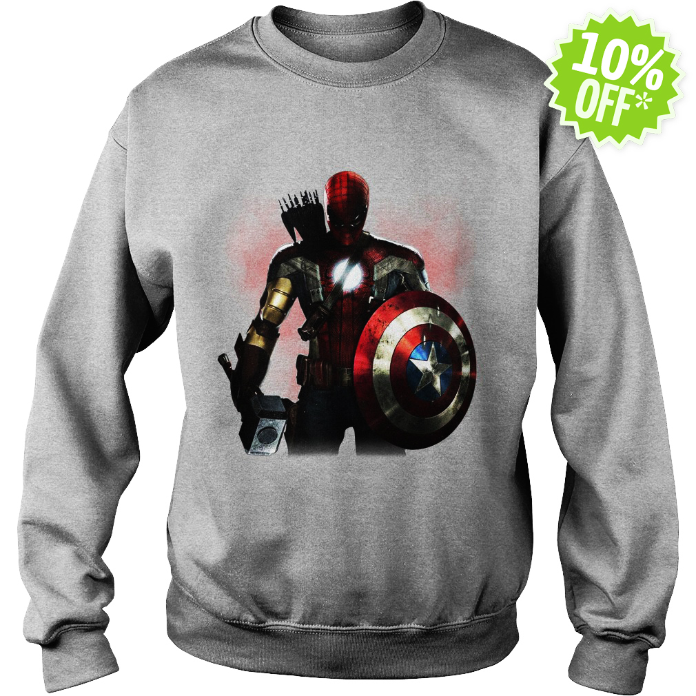 Marvel All avengers heroes in one sweatshirt