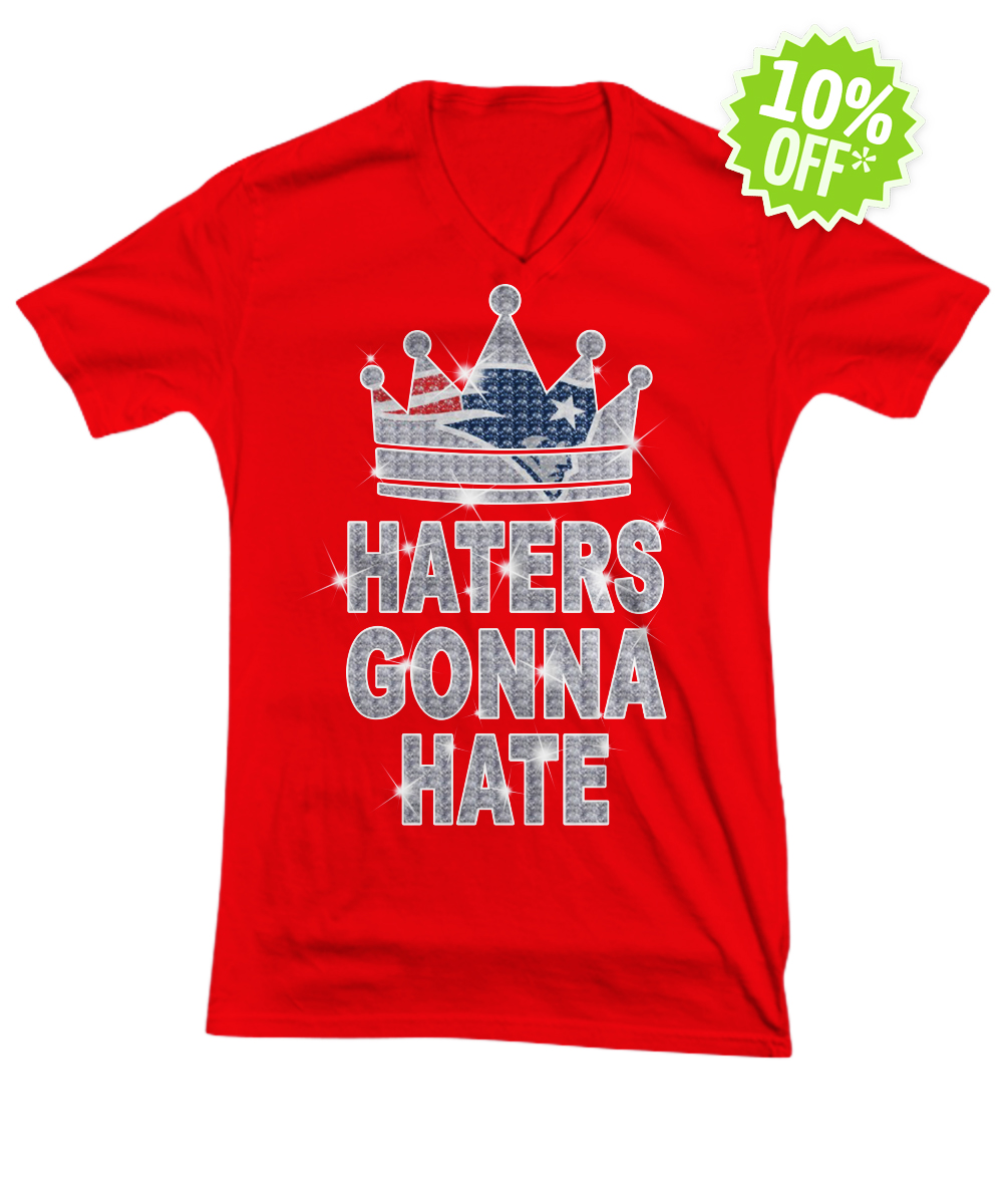 Patriots haters gonna hate v-neck