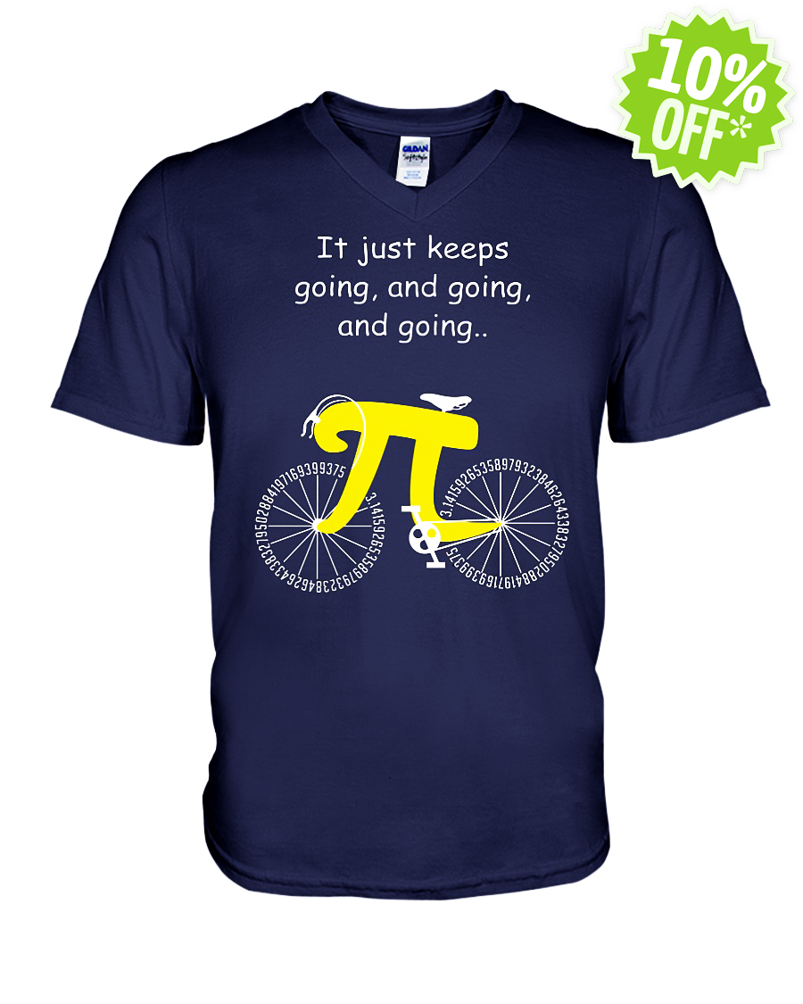 Pi Cycle It Just Keeps Going and Going and Going v-neck