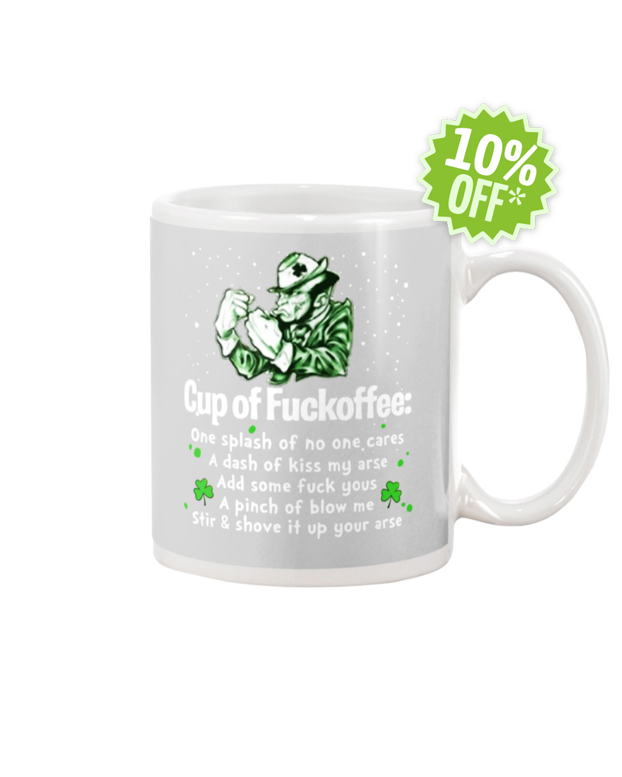 St Patrick's Day cup of fuckoffee ash mug
