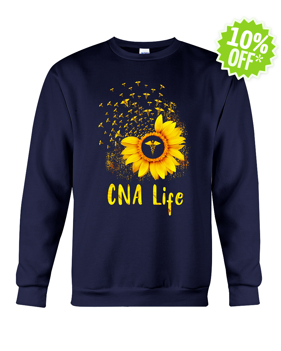 Sunflower CNA life crewneck sweatshirt