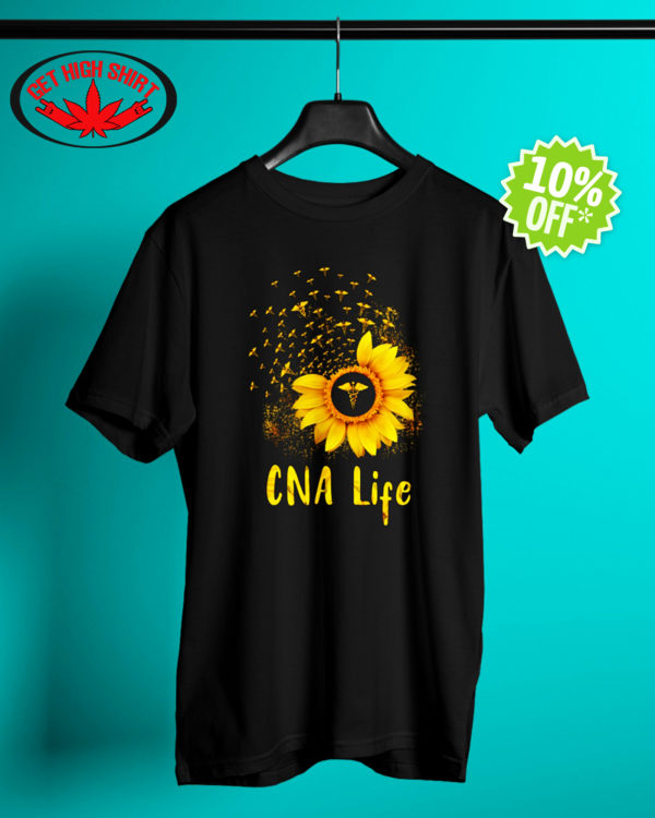 Sunflower CNA life shirt