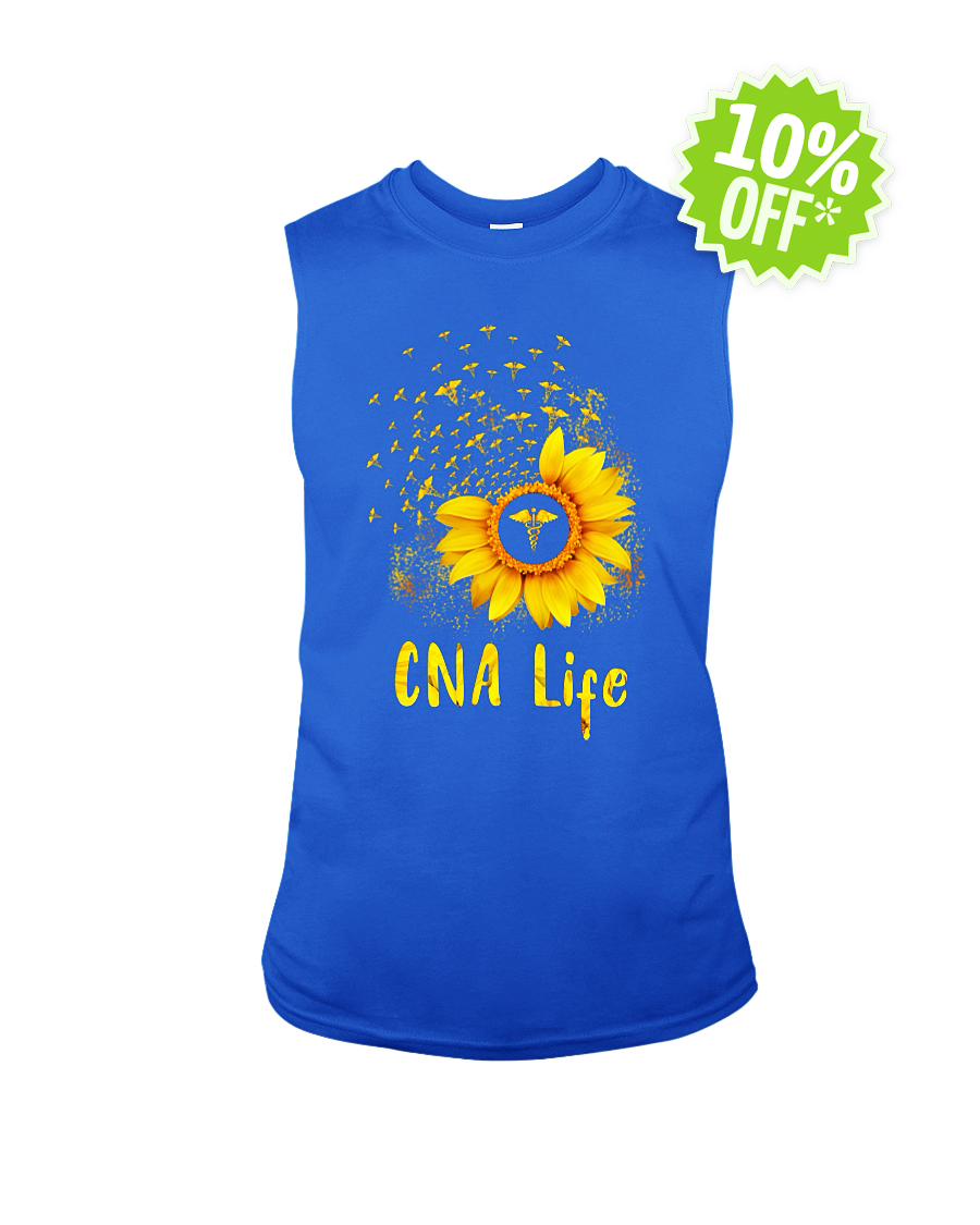 Sunflower CNA life sleeveless tee