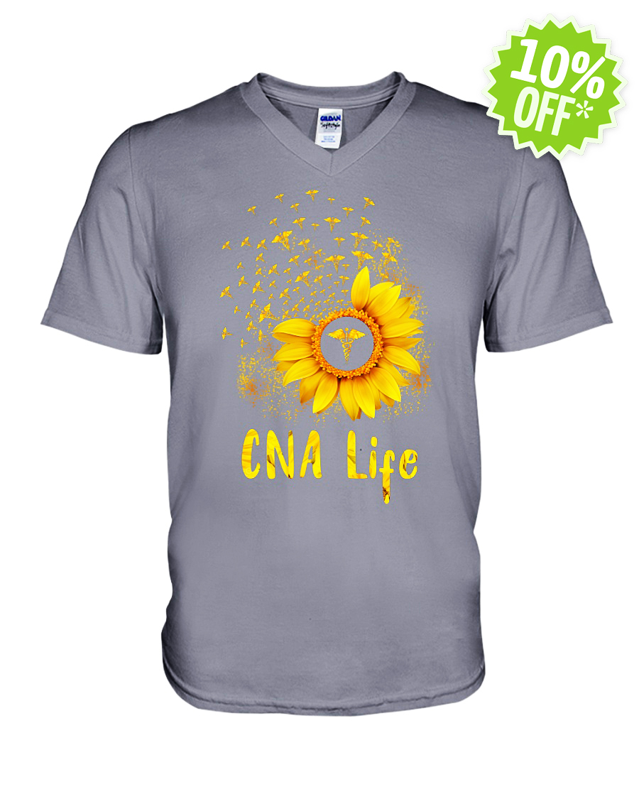 Sunflower CNA life v-neck