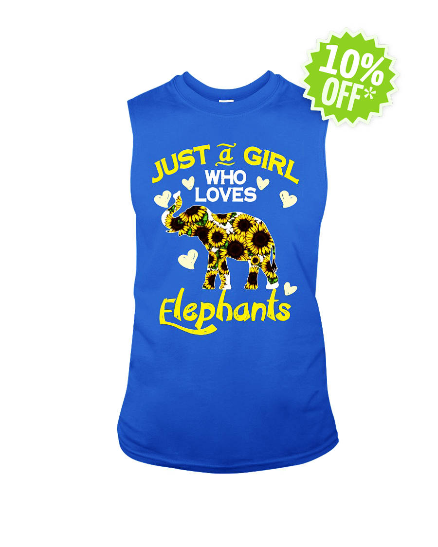 Sunflower just a girl who loves elephants sleeveless tee