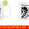 Together Forever Skeleton Valentine's Day Couple mug