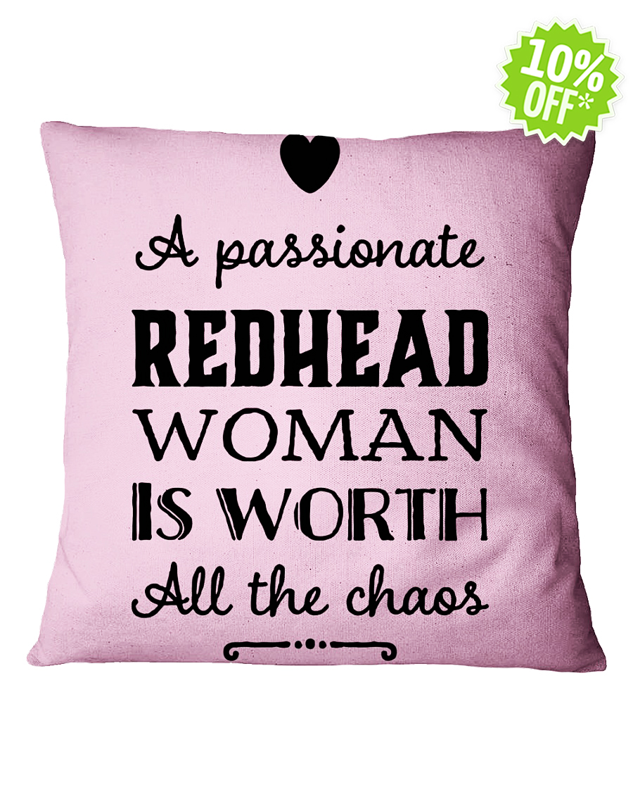A passionate Redhead woman is worth all the chaos Square Classic Pink Pillowcase