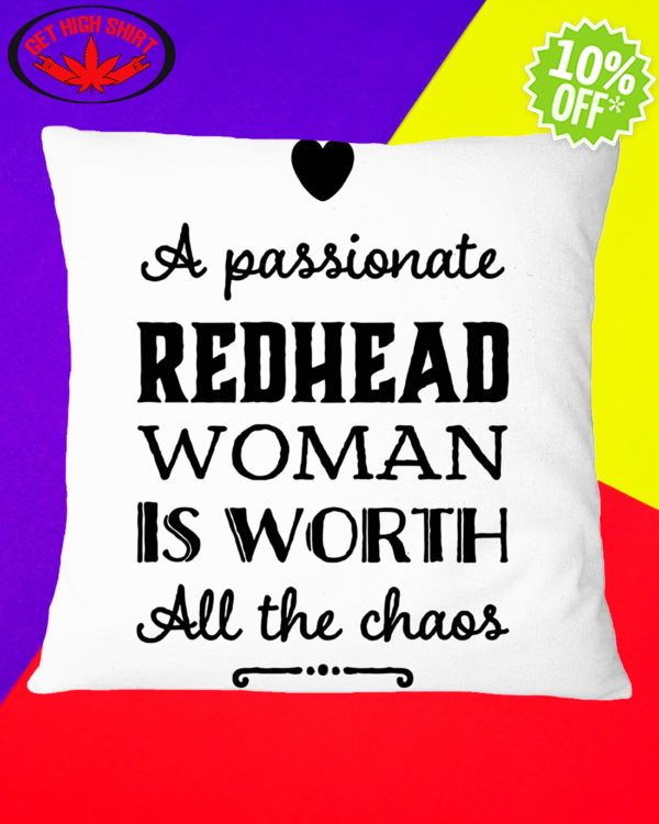 A passionate Redhead woman is worth all the chaos Square Pillowcase