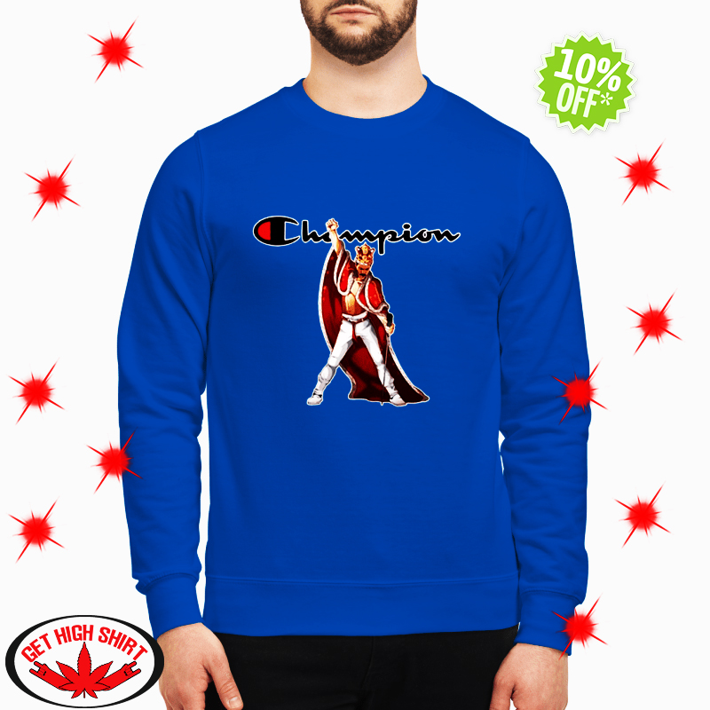 Freddie Mercury robe and crown champion sweatshirt