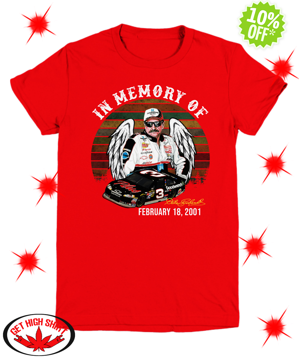 In Memory of Dale Earnhardt February 18 2001 youth tee