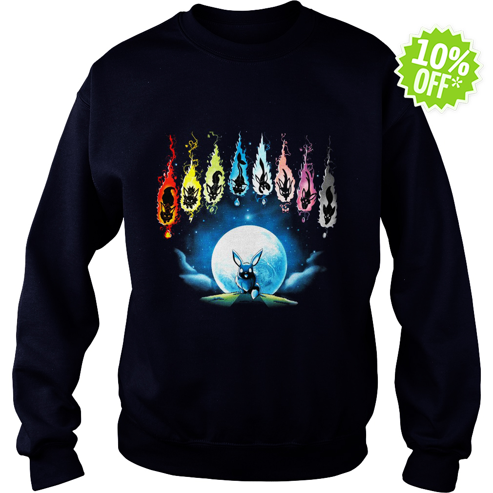 Pokemon Eevee Evolution Moon Night sweatshirt