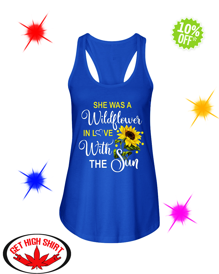 She's a wildflower in love with the sun flowy tank