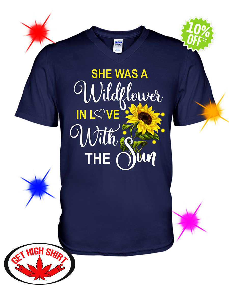 She's a wildflower in love with the sun v-neck