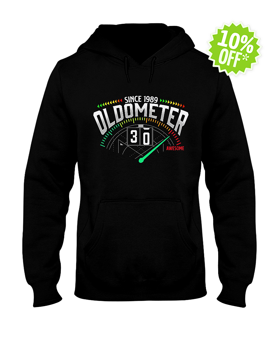 Since 1989 oldometer 30 awesome hooded sweatshirt