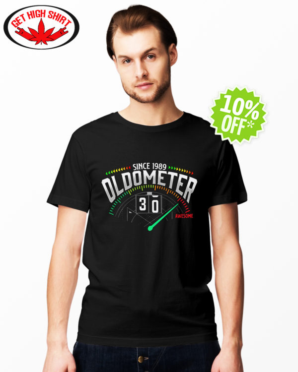 Since 1989 oldometer 30 awesome shirt