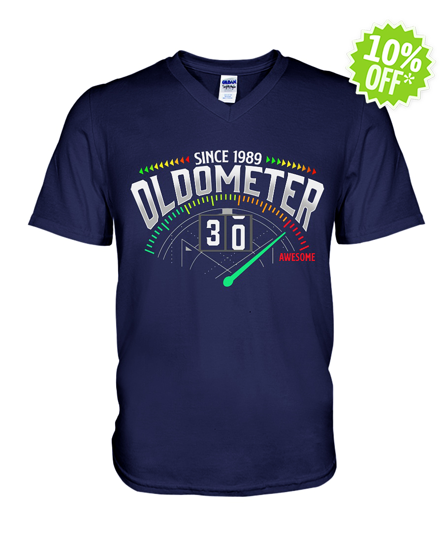 Since 1989 oldometer 30 awesome v-neck