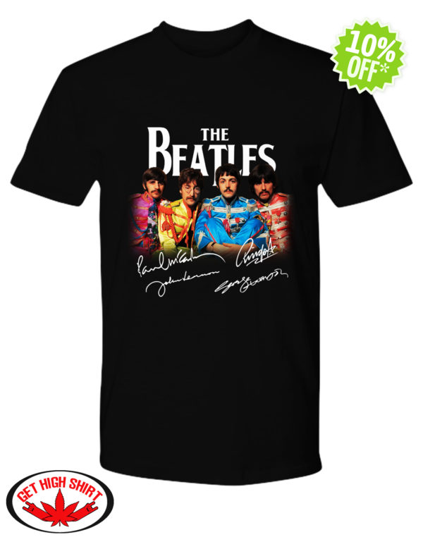 The Beatles Sgt. Pepper's Lonely Hearts Club Band signature shirt