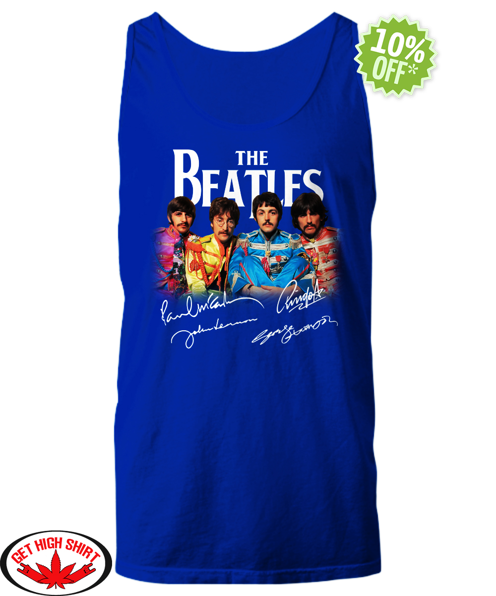 The Beatles Sgt. Pepper's Lonely Hearts Club Band signature tank top