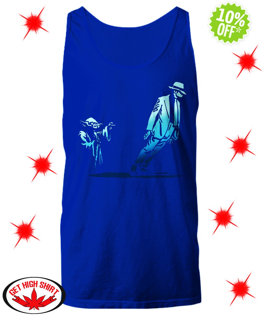 Yoda Star Wars and Michael Jackson Smooth Criminal Lean tank top