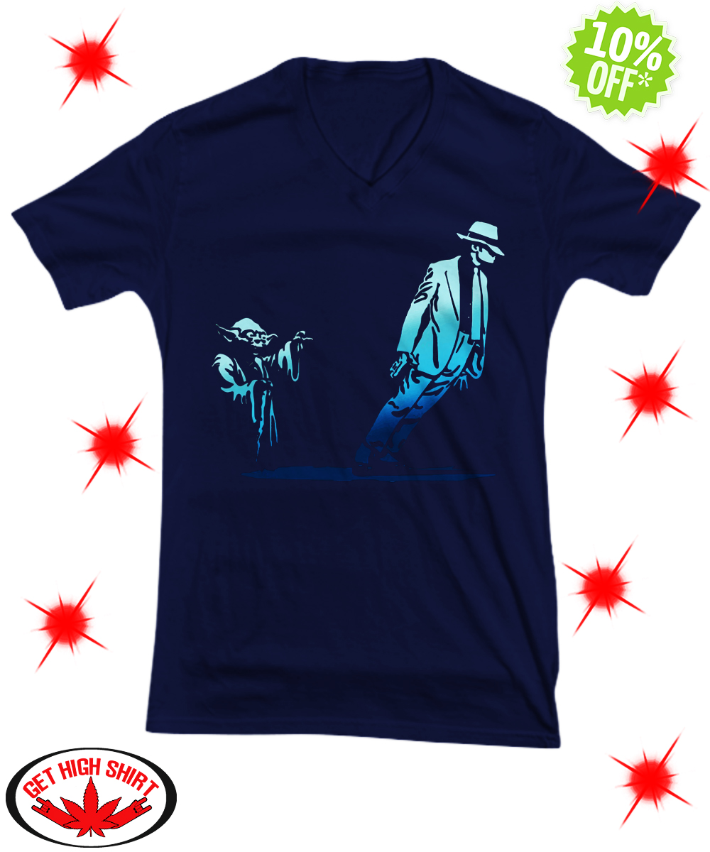 Yoda Star Wars and Michael Jackson Smooth Criminal Lean v-neck
