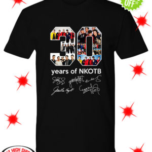 30 years of NKOTB signatures shirt
