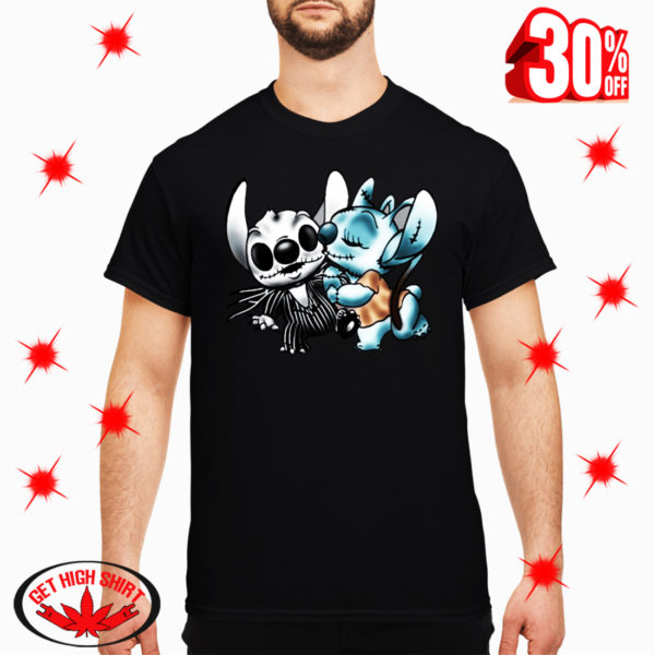 Angel Kiss Stitch as Jack and Sally shirt
