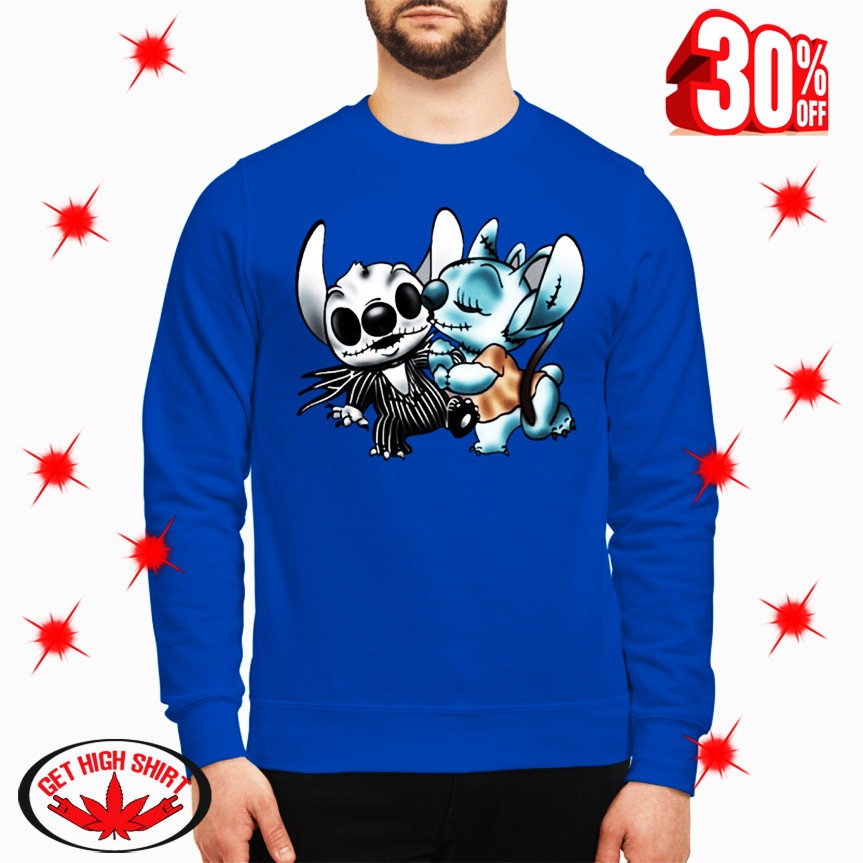 Angel Kiss Stitch as Jack and Sally sweatshirt