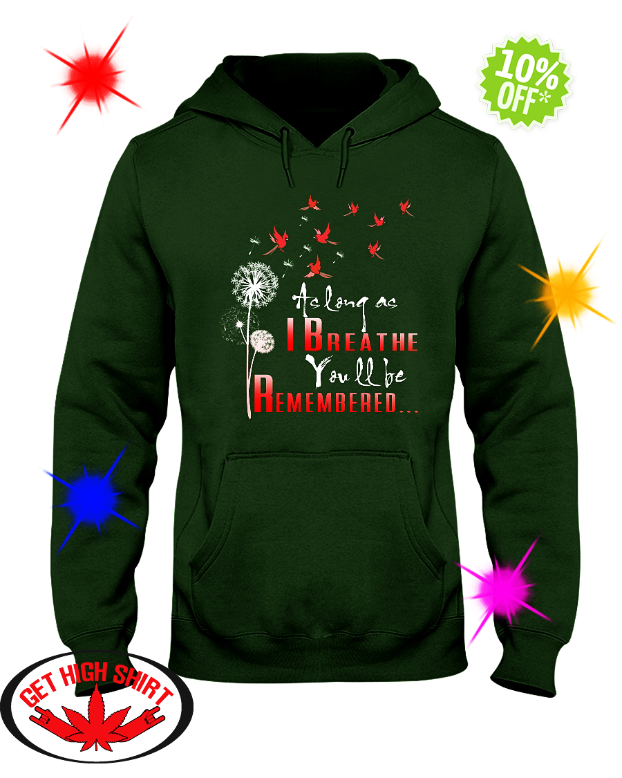 As long as I breathe you'll be remmembered Bird hoodie