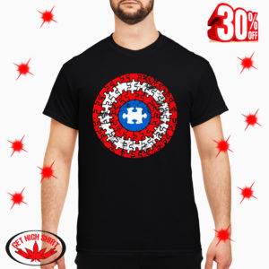 Autism Awareness Puzzle Captain America's Shield Superhero shirt