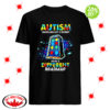 Autism travelling life's journey using a different roadmap shirt