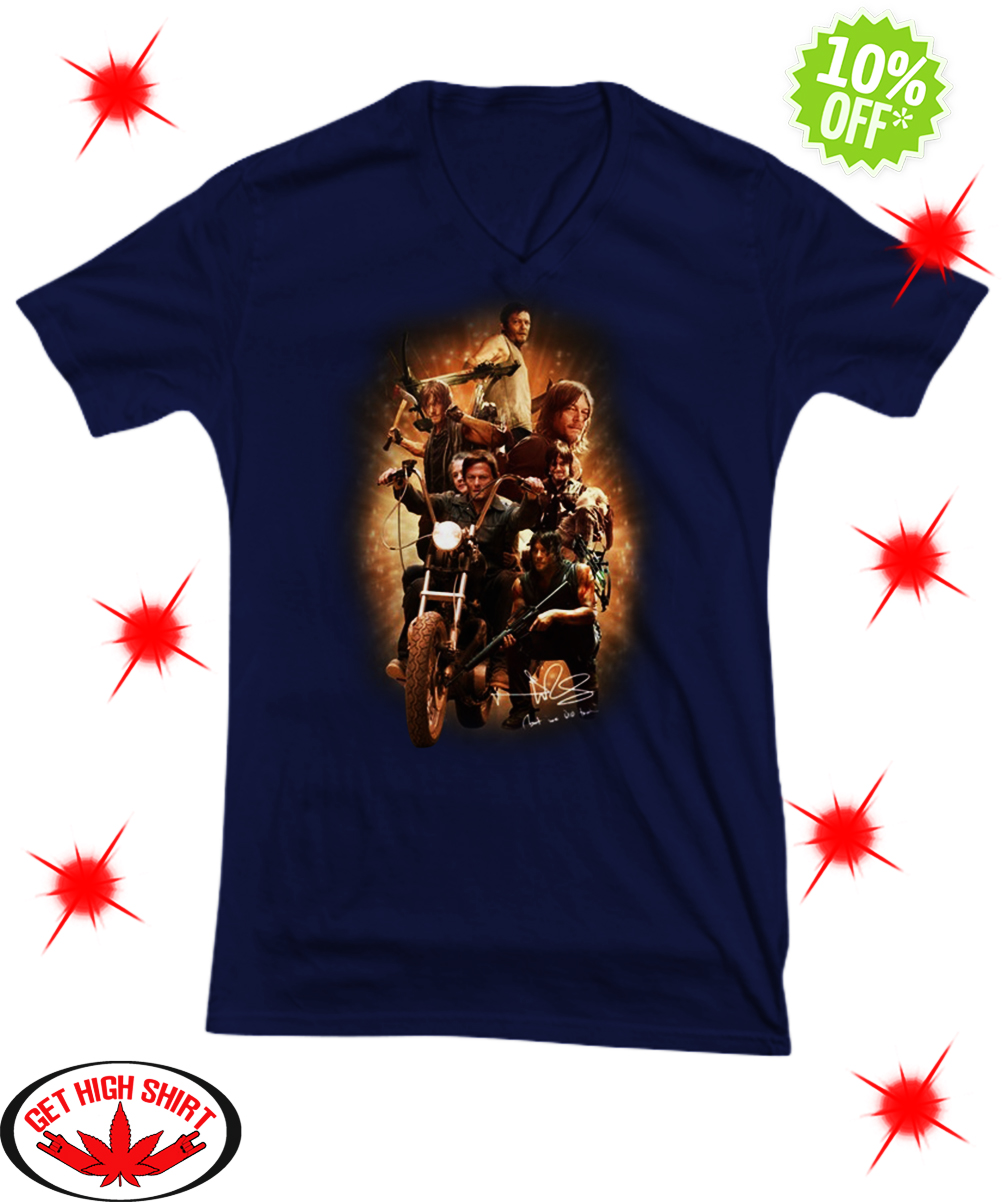 Autographed The Walking Dead Daryl Dixon v-neck