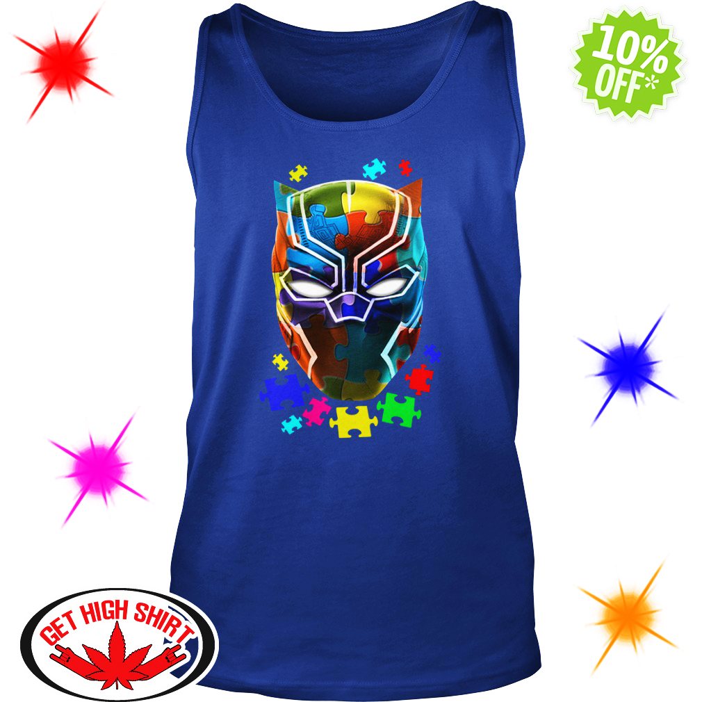 Black panther Autism tank top