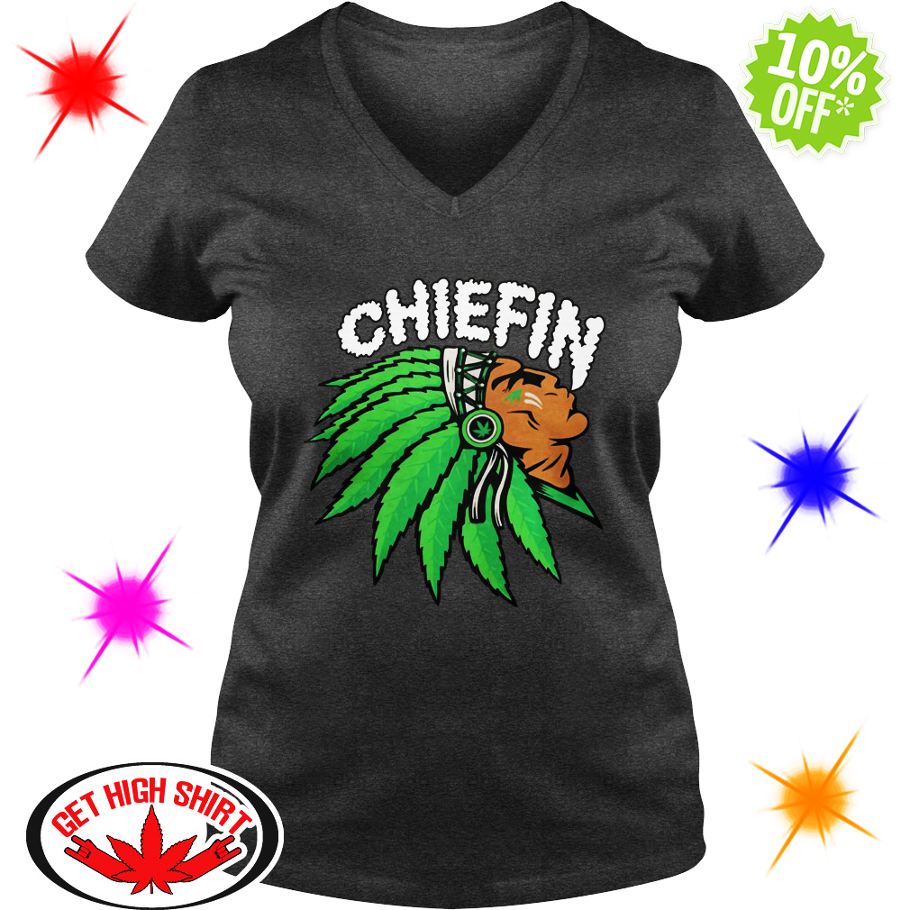 Chiefin Indian Smoke Weed v-neck