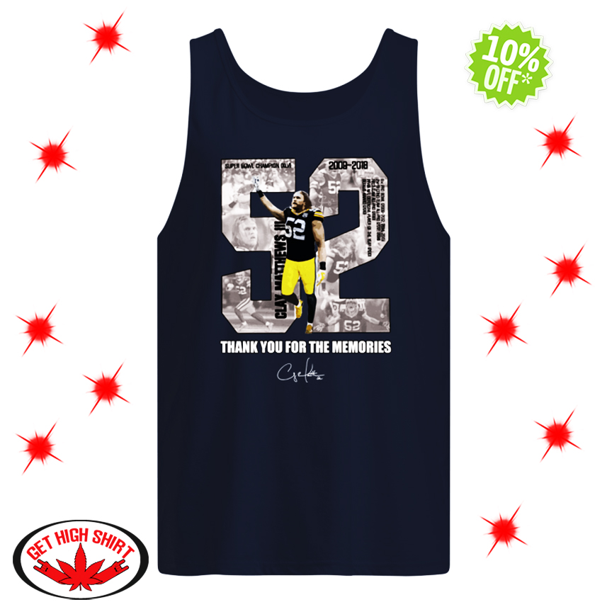 Clay Matthews III 52 Thank You For The Memories tank top