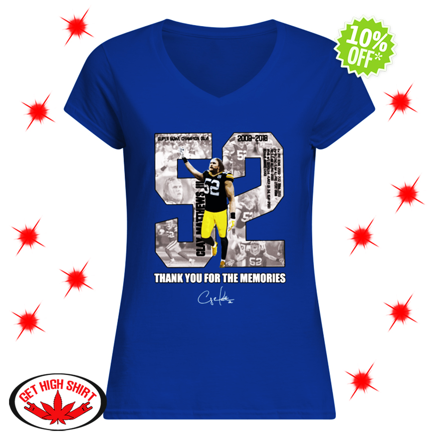 Clay Matthews III 52 Thank You For The Memories v-neck