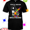 Dad You never walk alone autism shirt