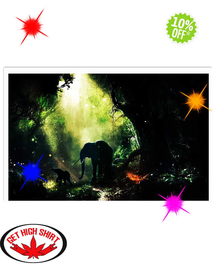 Elephant In The Jungle 36x24 Poster