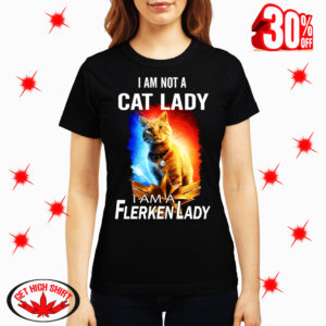 Goose Cat I am not a cat lady I am a flerken lady shirt