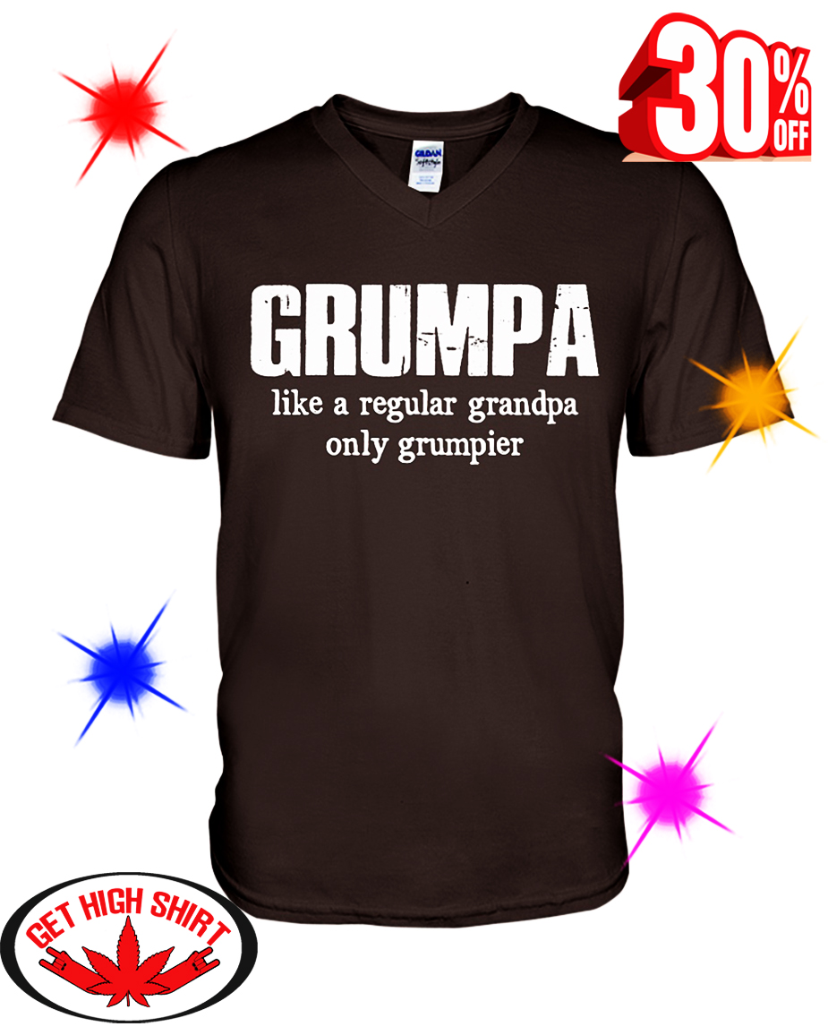 Grumpa Like a Regular Grandpa Only Grumpier v-neck