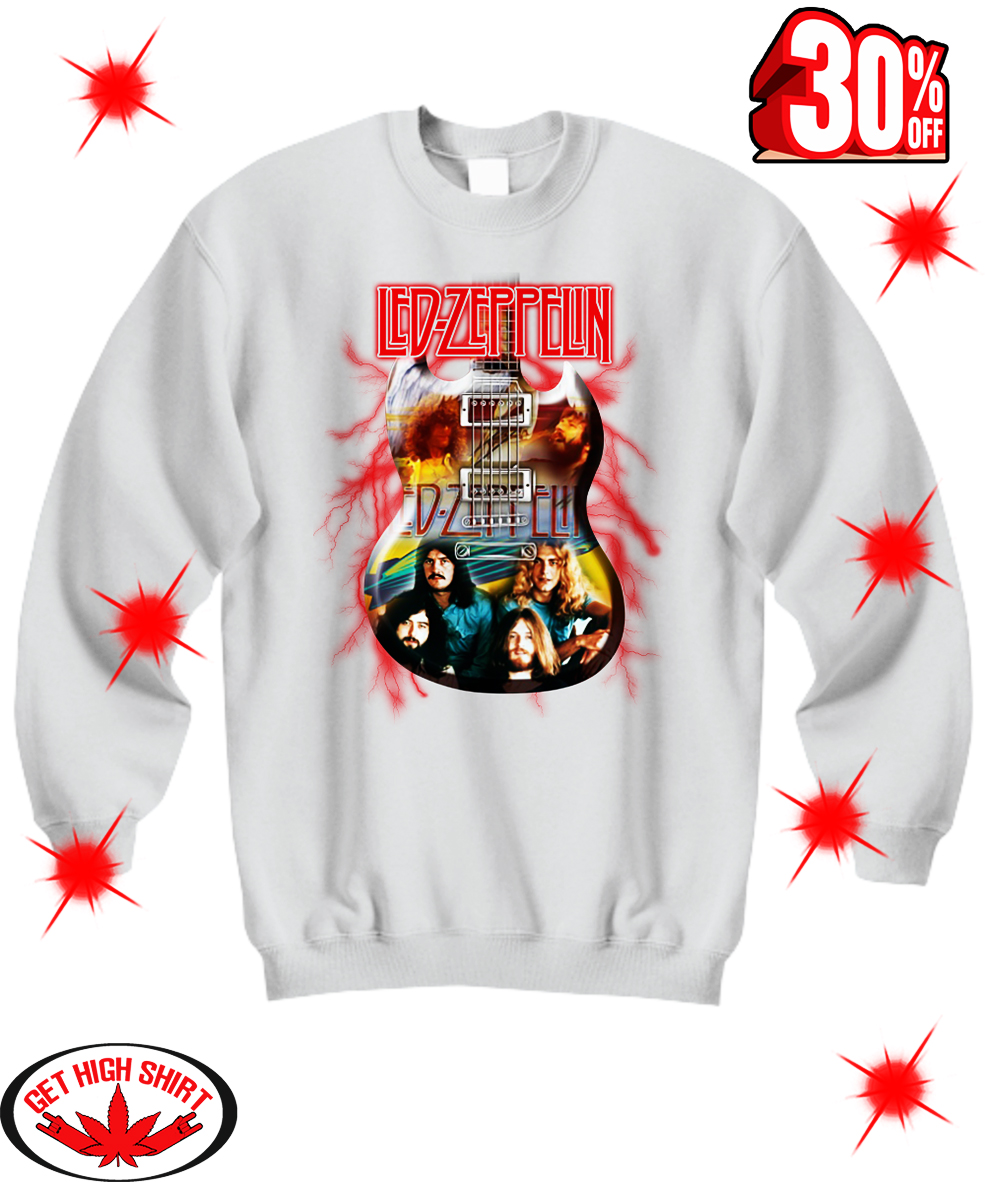 Guitar Led Zeppelin sweatshirt