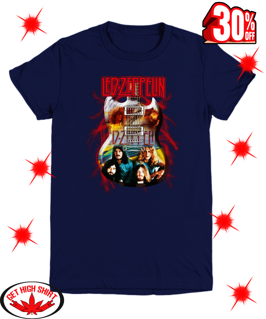 Guitar Led Zeppelin youth tee