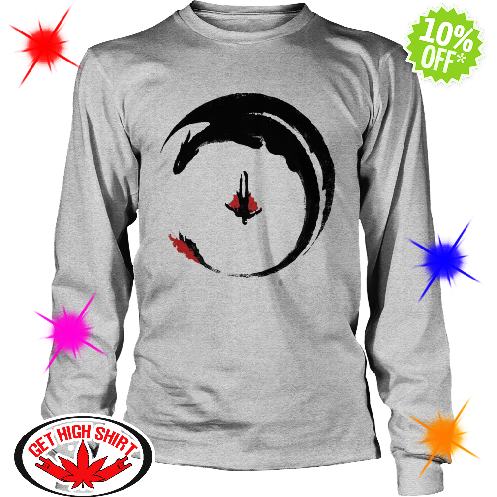 Hiccup and Toothless fly scene longsleeve tee