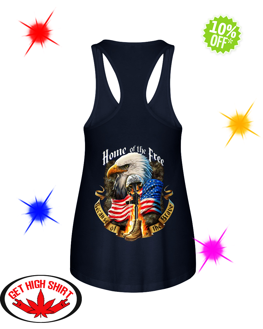 Home of the free because of the brave flowy tank