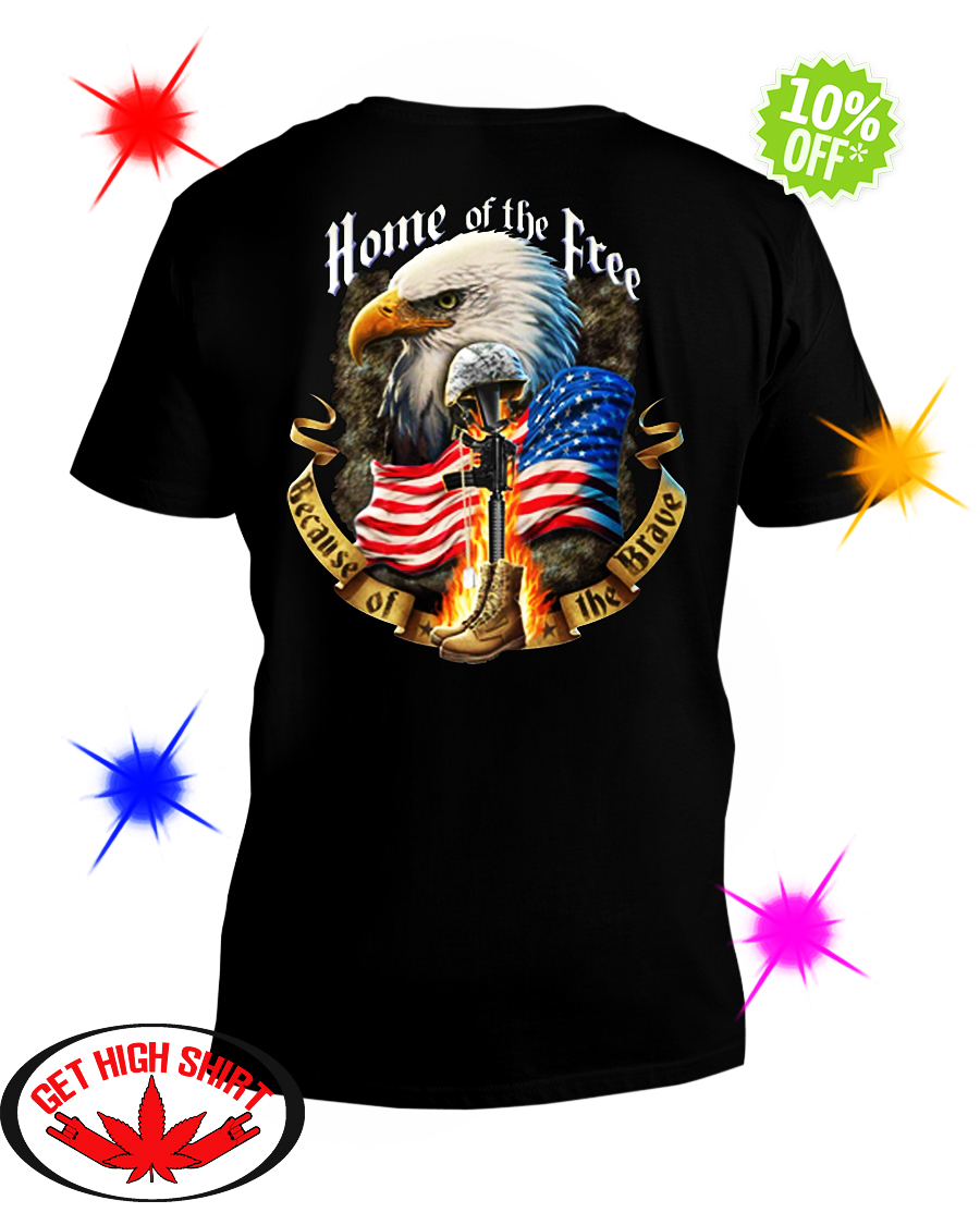 Home of the free because of the brave v-neck