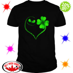 Jack Skellington Irish Heart ST Patrick's Day shirt