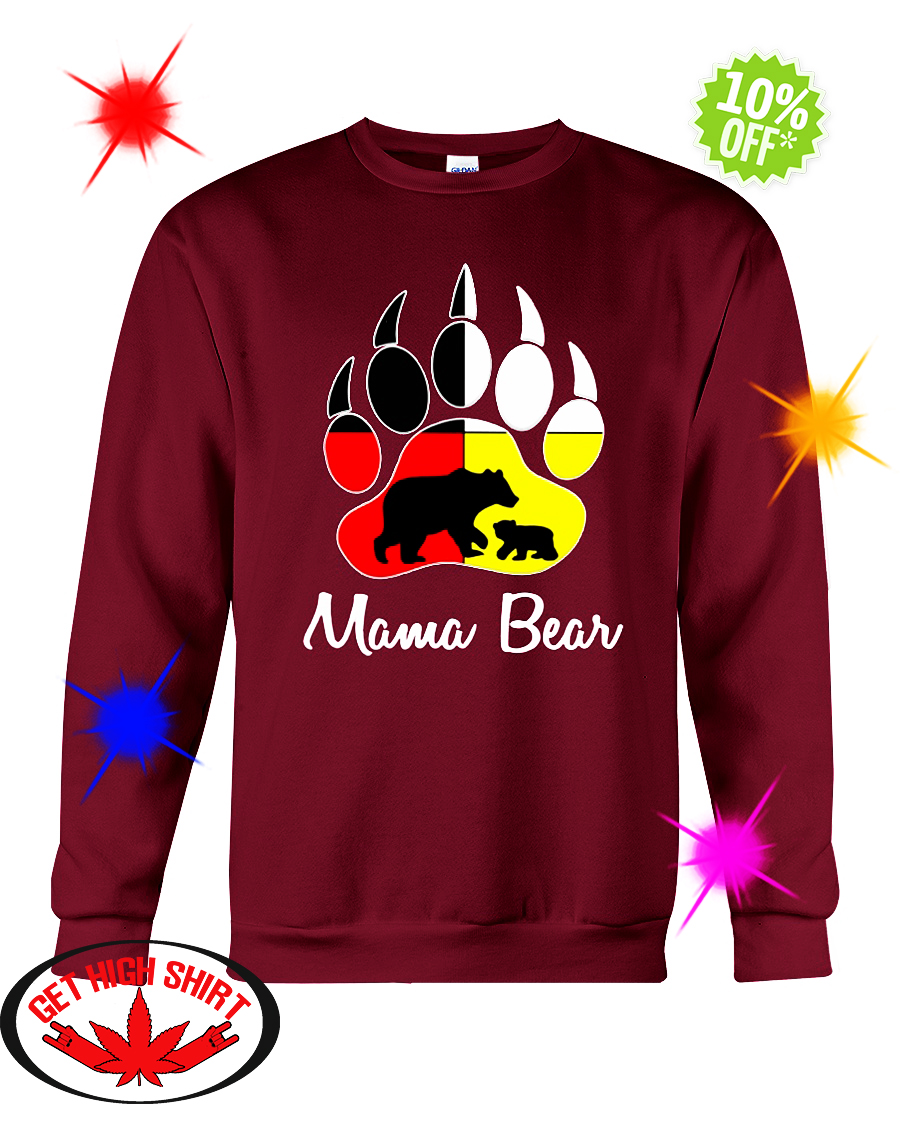 Mama bear Native American Flags sweatshirt