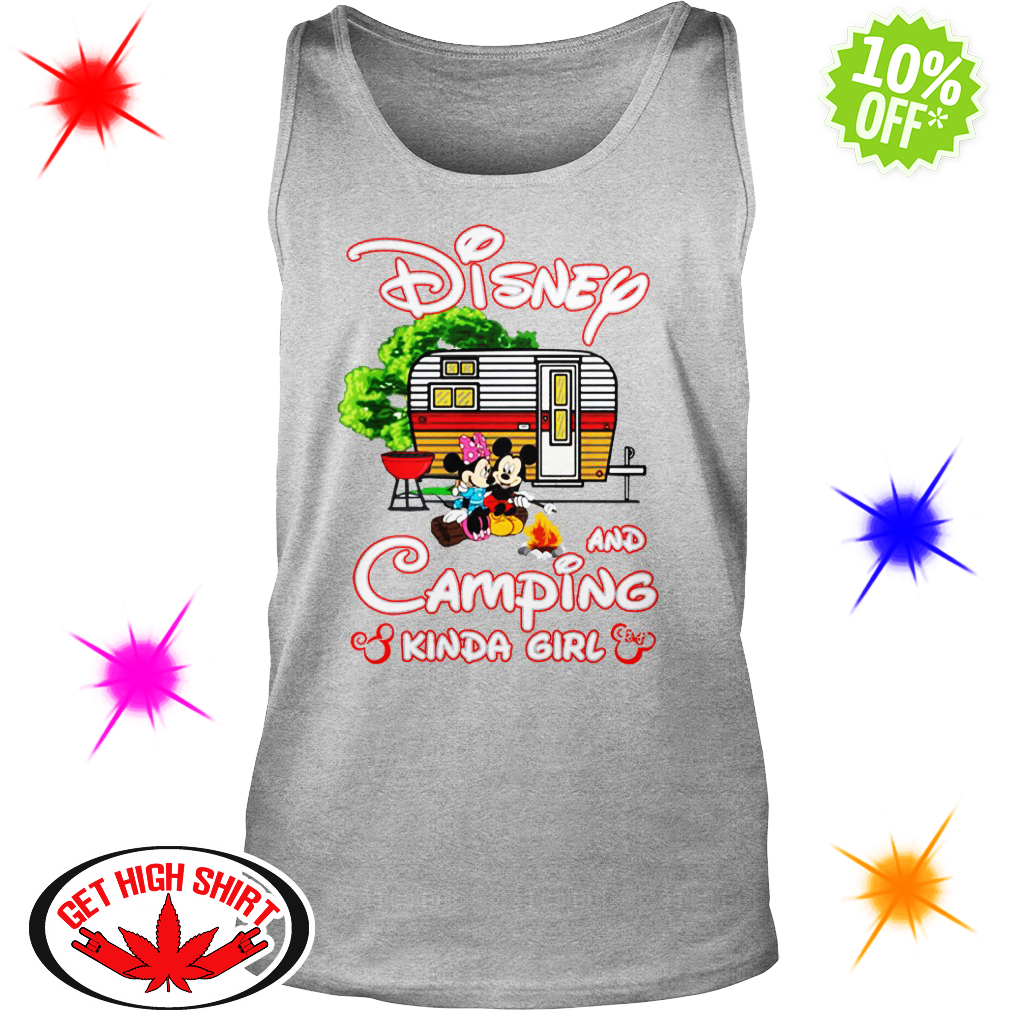 Mickey And Minnie Disney and camping kinda girl tank top