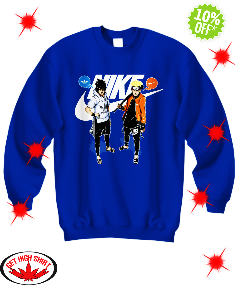 Naruto and Sasuke Nike Adidas sweatshirt